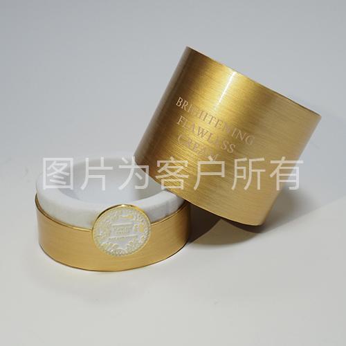 Glass bottle round box