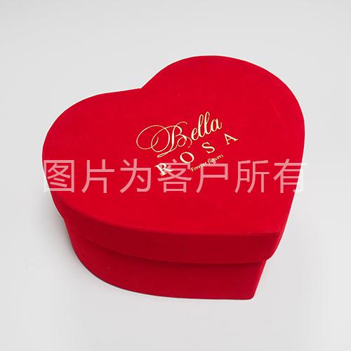 Velvet heart-shaped box