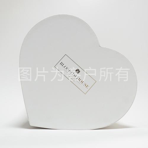 Chocolate heart-shaped box
